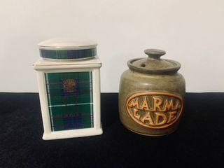 Marmalade and Tea Canisters