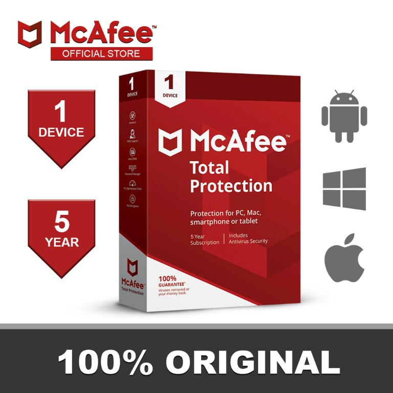 Mcafee Total Protection 5 Years 1 Dev Software License Key
