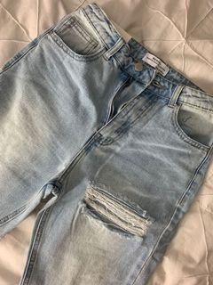 Miss pap redial light blue mom jeans