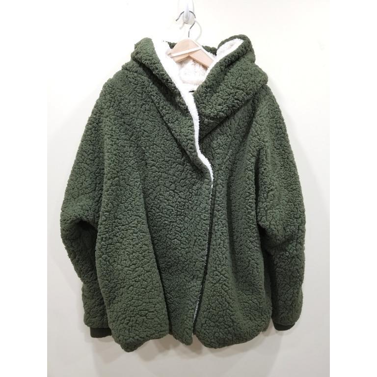 NWOT | Me Jane | Green Sherpa Jacket | Large