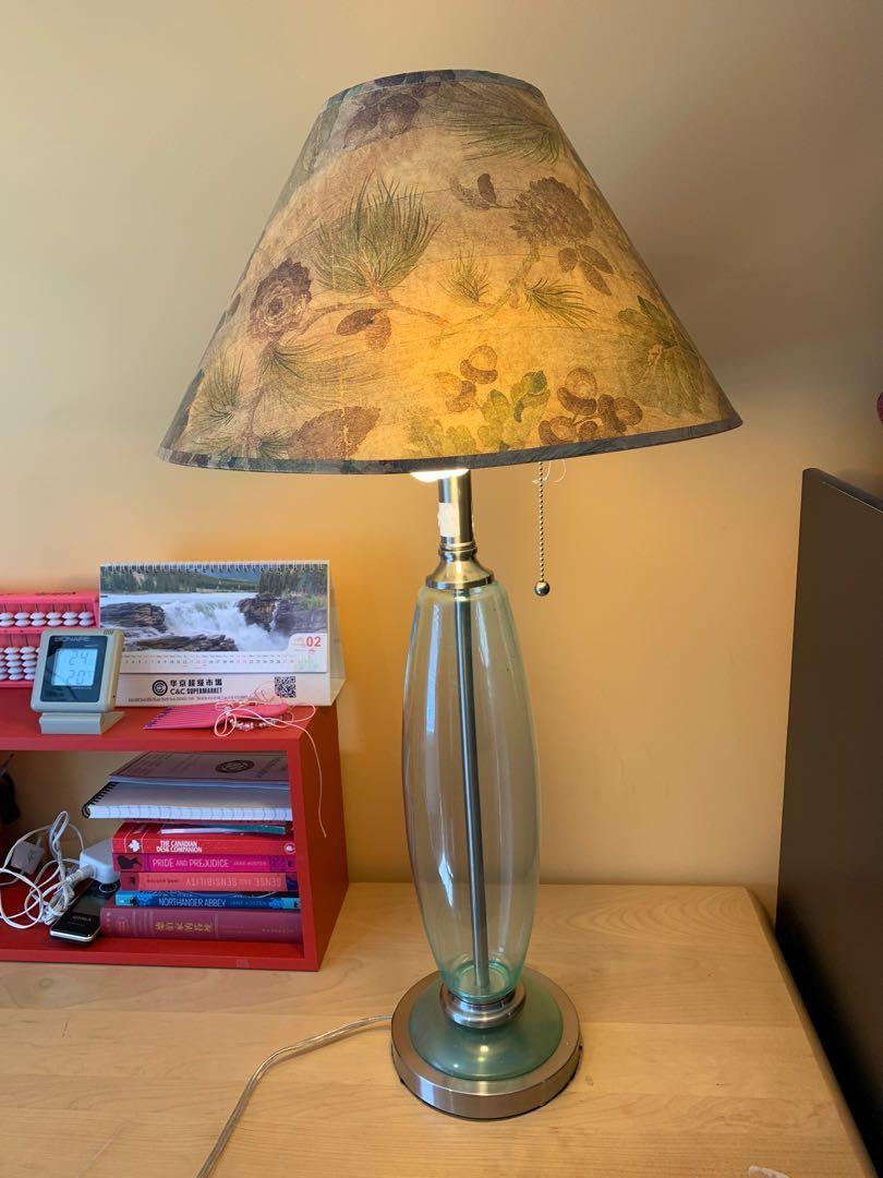 Old fashioned glass lamp