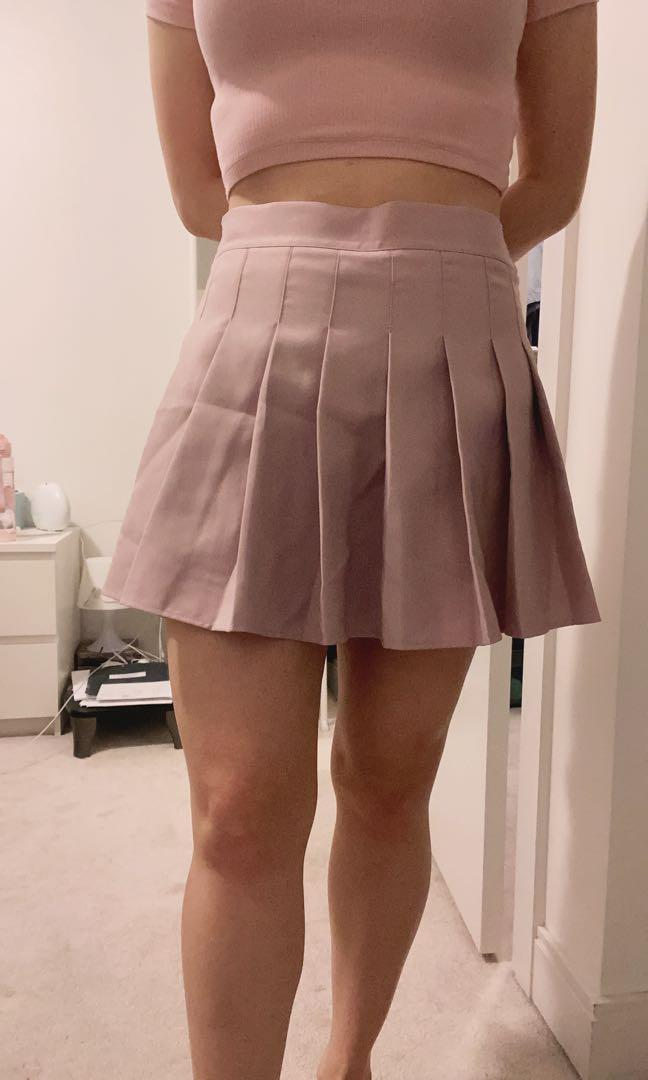 Pink Pleated Skirt Size S