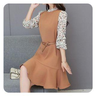 [PRELOVED] Atasan dress mini rok korea shabby chic vintage