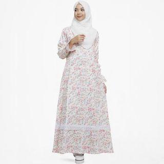 [PRELOVED] Gamis cantik motif bunga shabby chic Nadra Dress by Urfimutiyaro