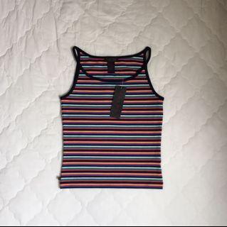 Ralph Lauren 彩色條紋削肩背心