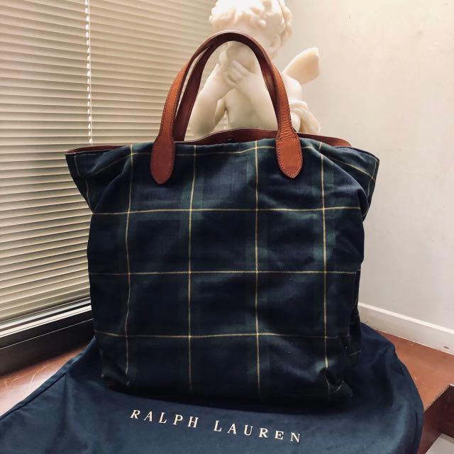 Ralph Lauren 經典格紋Tote Bag(資訊待補)