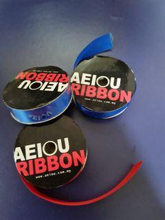 Ribbons red and blue