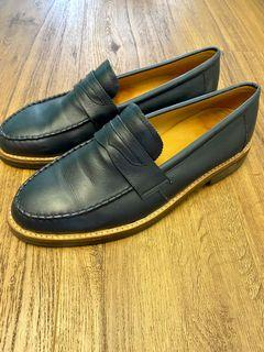 Scofield Penny Leather Shoes Navy Blue