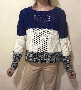 Sweater RAJUT JARING KEPANG