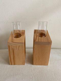 Test tube glass vase
