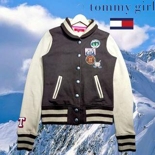 TOMMY HILFIGER GIRL NY ALL AMERICAN 1985 VARSITY BASEBALL JACKET TURTLENECK ORIGINAL AUTHENTIC