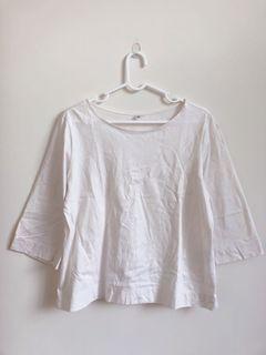 近全新✨Uniqlo全棉七分袖上衣。M號。