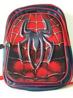 XL Spider Man Schoolbag - Waterproof - XL size 3 zipper compartment