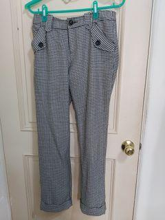 格紋長褲#女裝賣家