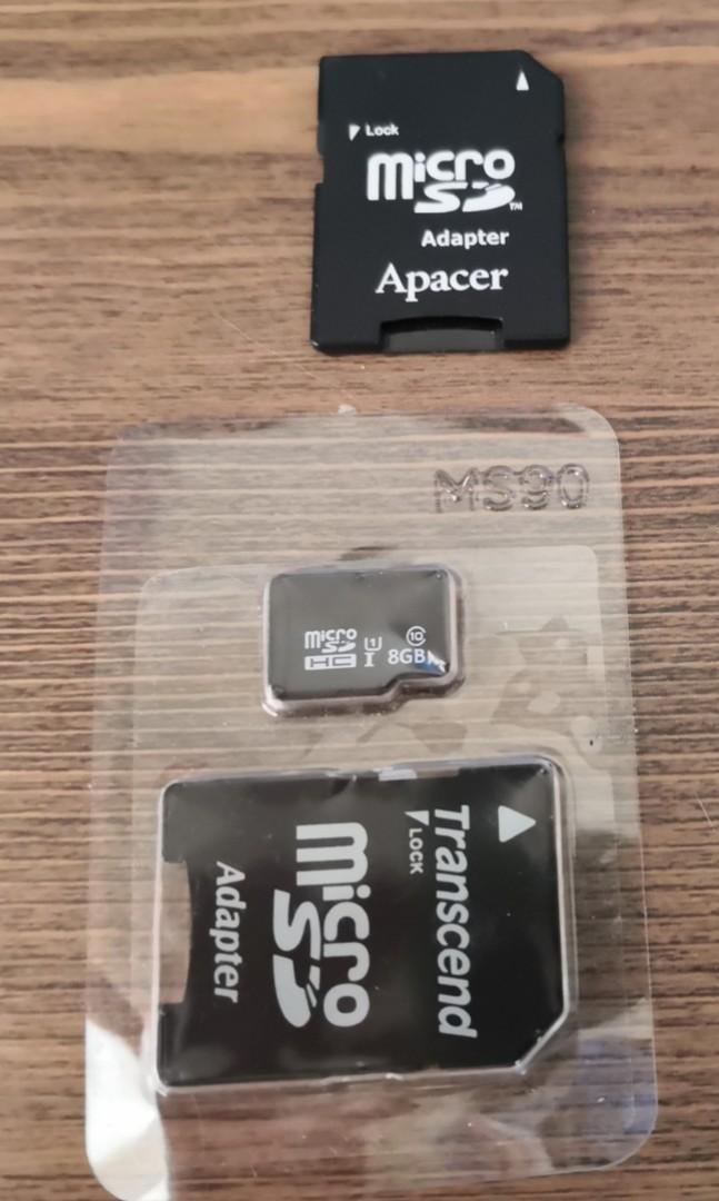 二手記憶卡 8G+轉換卡兩個