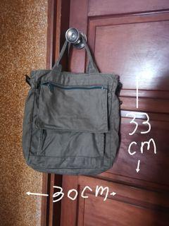 軍綠色帆布包, 斜側背包, 手提包, 書包