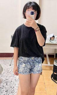 牛仔 短褲 花紋 全新 棉質 #女裝賣家