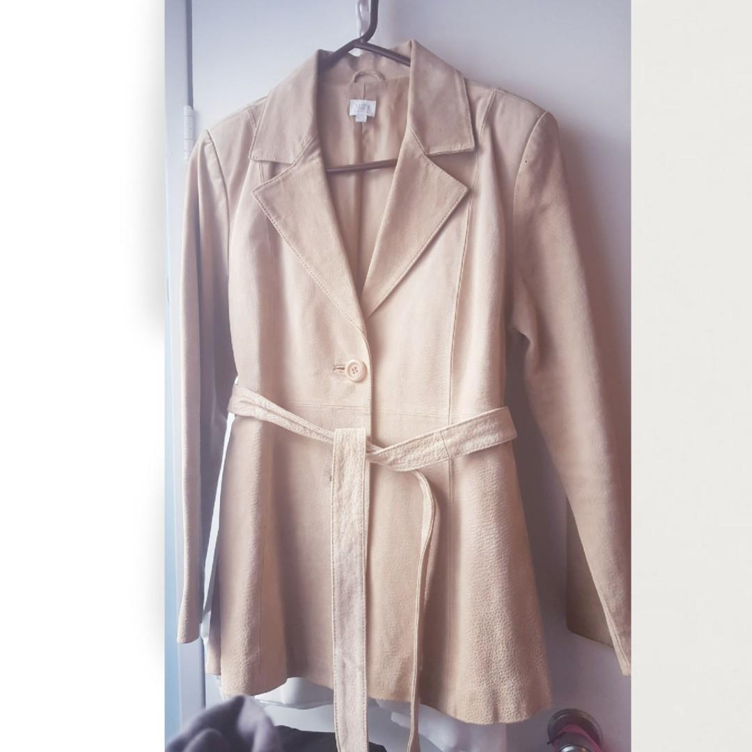 🆕️ Suede Leather jacket coat BNWT
