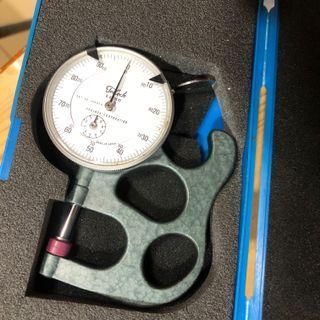 日本製 TECLOCK 手提式厚度計