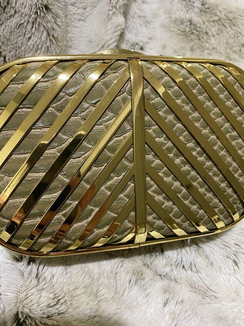 ALDO GOLD PLATED CLUTCH