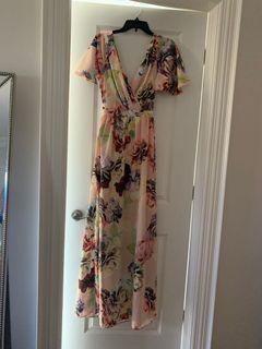 ASOS flutter sleeve maxi dress - new