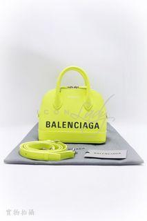 BALENCIAGA Ville XXS Top Handle 瑩光黃色壓紋牛皮 手挽袋 側肩袋 肩背袋 手袋