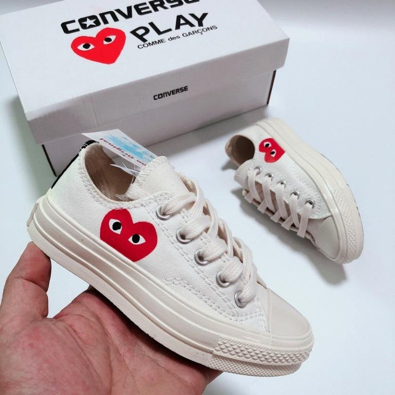 Converse CDG Play x Converser 1970s running shoes for kids boy ...