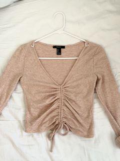 Crop ruched shirt
