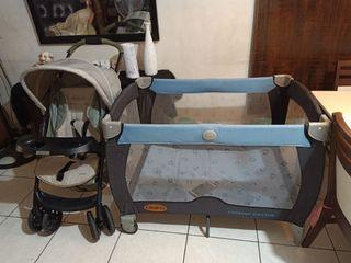 Graco Crib and Stroller Set