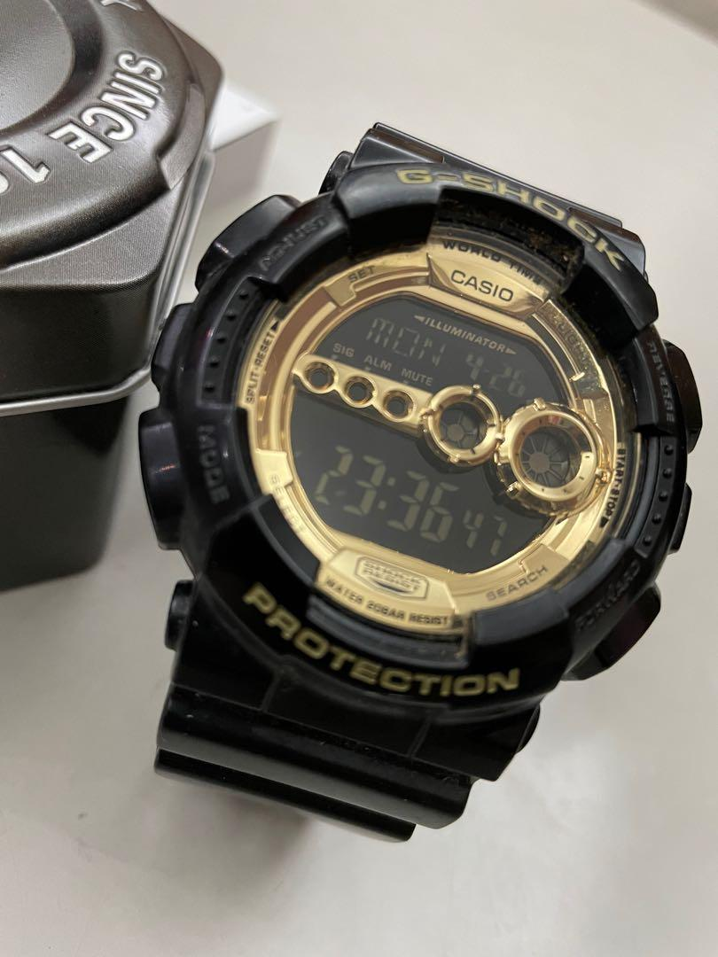 G-Shock 黑金手錶
