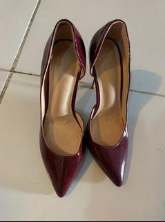 High heels maroon