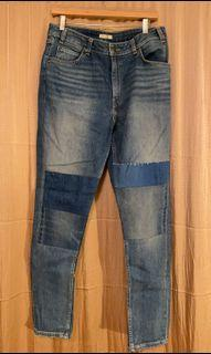 Levi's High Rise Skinny Patchwork Jeans