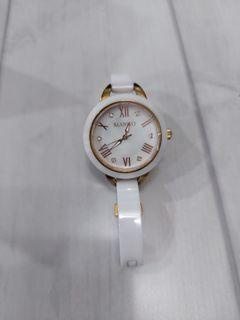 MANGO可愛甜心陶瓷時尚腕錶 附保固卡
