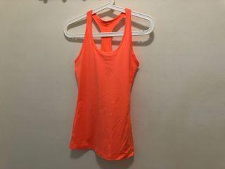 全新Nike 亮橘色dry-fit背心 xs號