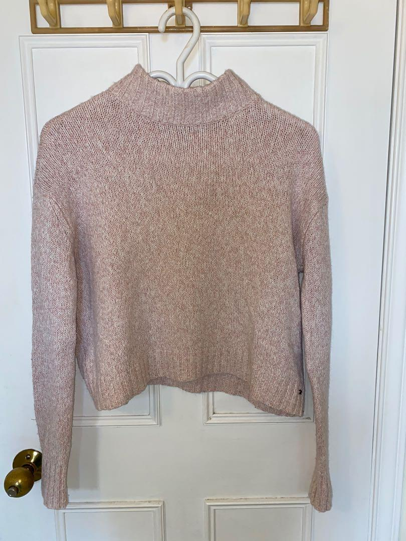 Pink XS American Eagle Woolly Cropped Sweater