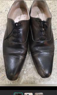 購於法國巴黎手染皮鞋/尖頭/紳士/正裝西裝/蘇握/suit