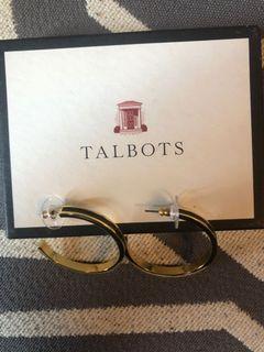 Talbots Gold Hoop Earrings