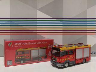 Tiny 消防 Man 細搶 F2526 電鍍紅 贈品限定 模型車仔