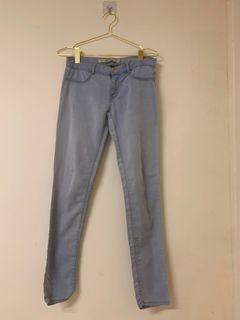 Zara內搭褲附口袋拉鍊(淺藍色)26吋腰