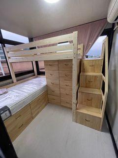高架床組合❤任何尺寸製造❤包安裝包送貨❤單人床❤組合櫃床❤