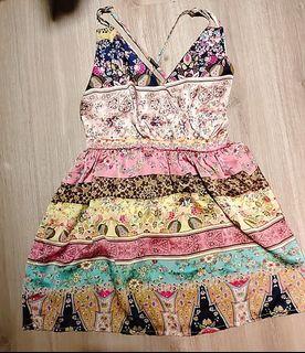 波西米亞風 露背洋裝 連身裙