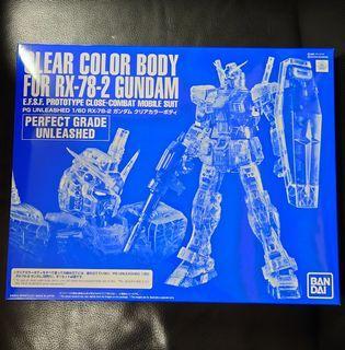 高達模型: 魂限 PG UNLEASHED 1/60 CLEAR COLOR BODY FOR RX-78-2 GUNDAM