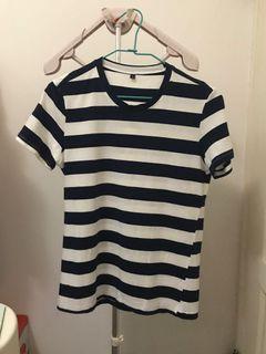 條紋短袖 tee 短袖T恤  上衣 短袖上衣