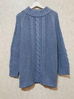 Cable Knit Sweater Denim Blue