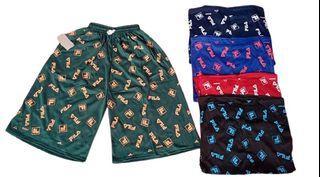 Celana pendek hawai ibu- ibu dan bapak jumbo