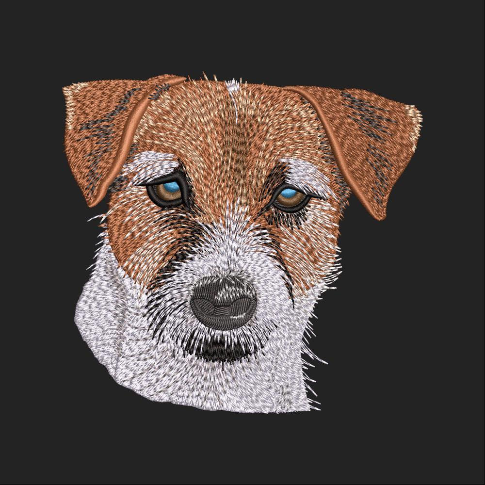 Embroidery Design: Jack Russell Terrier Dog