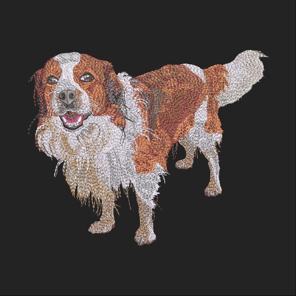 Embroidery Design: Spaniel Dog