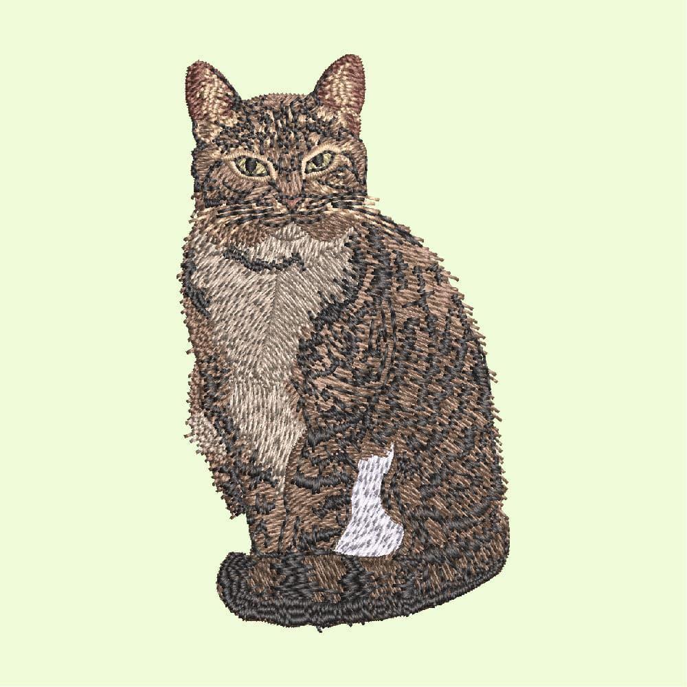 Embroidery Design: Sweet Brown Cat