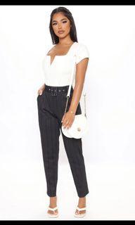 Fashion nova work stripe pants