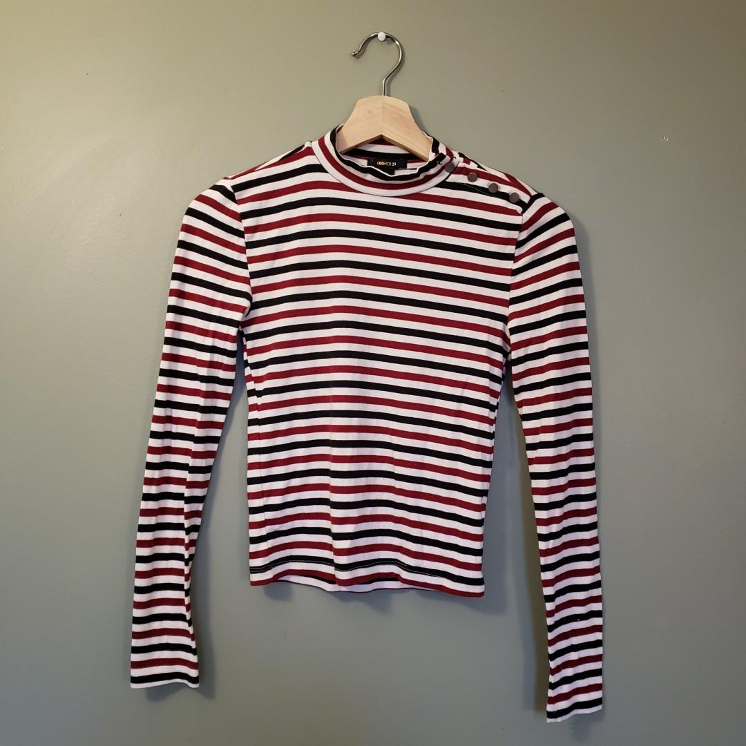 Forever 21 Striped Fitted Top